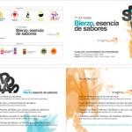 """Díptico realizado para un acto promocional en el El Bierzo, """"Esencia de Sabores"""""""